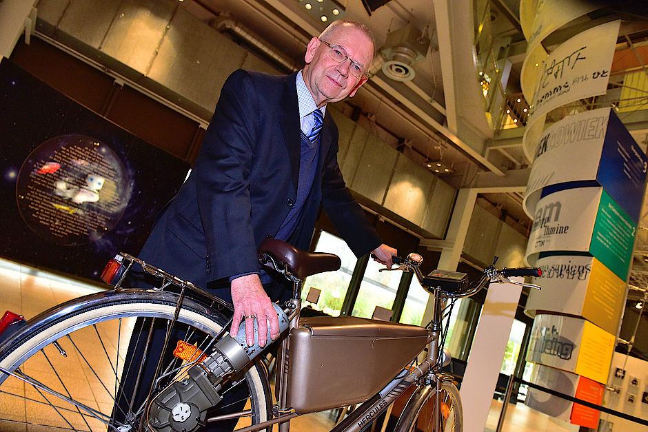 Günter Baitz en zijn e-bike