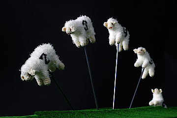 "Number Circus ""Sheep-counting machine"" by Patricia Waller"