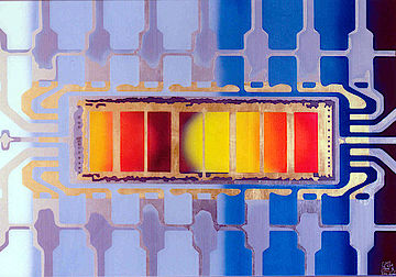 Asic Color Chip First Integrated Circuit First Mega Chip World Chip