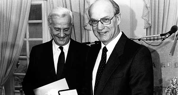 Heinz Nixdorf and Richard von Weizäcker, 1984