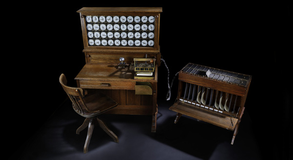 Replica of the first Hollerith machine