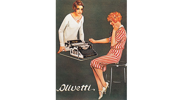 Advertisement for Olivetti typewriters, 1920s